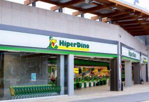 Fachada tienda HiperDino del CC Alisios