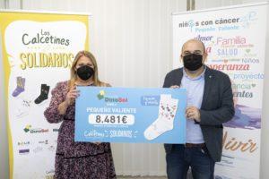 Davinia Domínguez, presidenta de la Fundación DinoSol, y José Jerez, presidente de Pequeño Valiente