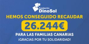 Cantidad recaudada en la recogida virtual de la Fundación DinoSol en las tiendas HiperDino (1)