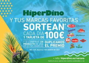 HiperDino lanza una campaña de verano con un sorteo diario de 100 euros